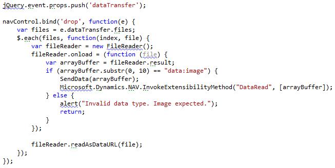 Drag and Drop File Upload for Microsoft Dynamics NAV 2013 R2