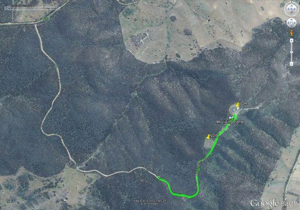Mt Livingstone Google Earth track