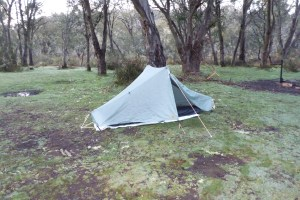 My tent at Native Dog Flat campsite