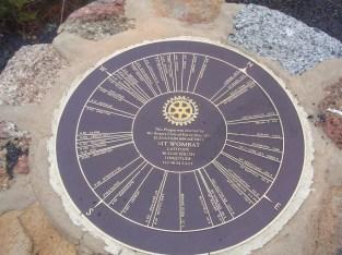 Mt Wombat distance plaque