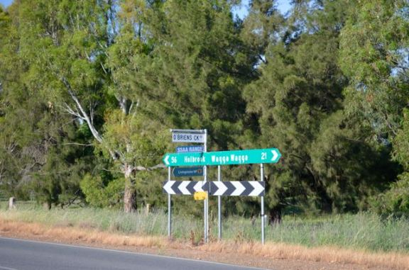 The turn off on Holbrook Road