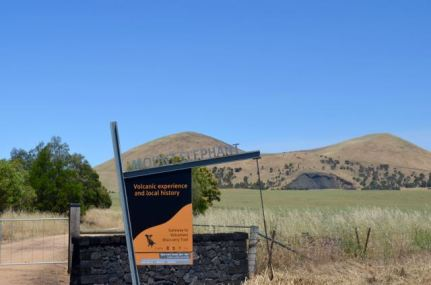 The entry to Mt Elephant off Hamilton Hwy