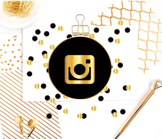 image shows instagram logo and beautiful design