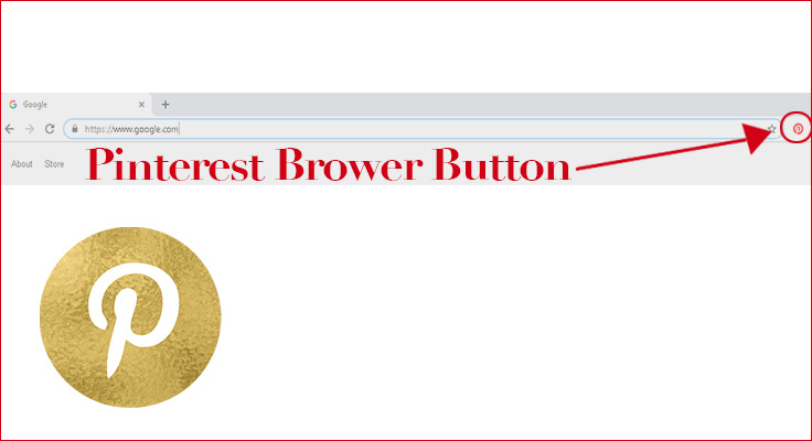 image of pin it button at chrome brower