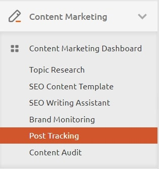 Post tracking in semrush review