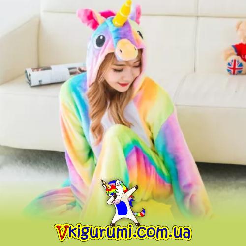 Пижама кигуруми радужный пони - Кигуруми в Украине 6fd6febc759f5
