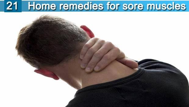 21 home remedies for sore muscles in neck. shoulders. back & legs
