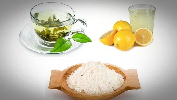 గ్రీన్ టీ-బియ్యప్పిండి ప్యాక్
