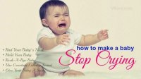 How to make a baby stop crying at night  5 tips
