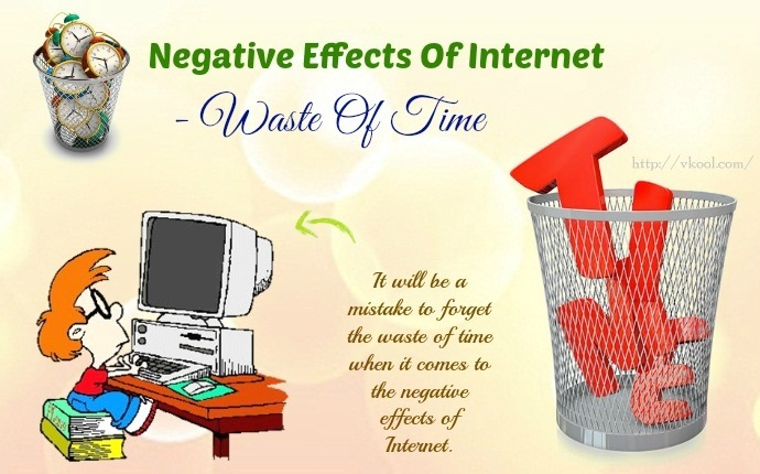 negative effects of internet - waste of time