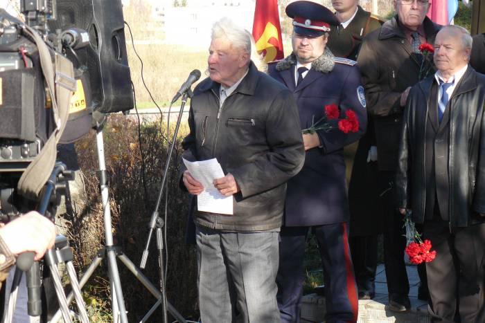 копти 2015 выступает ветеран ВОВ Терещенко В.