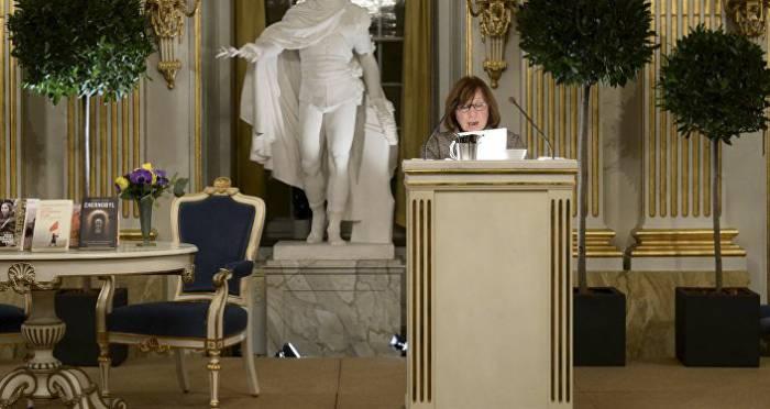Нобелевская лекция белорусской писательницы. Фото: sputnik.by