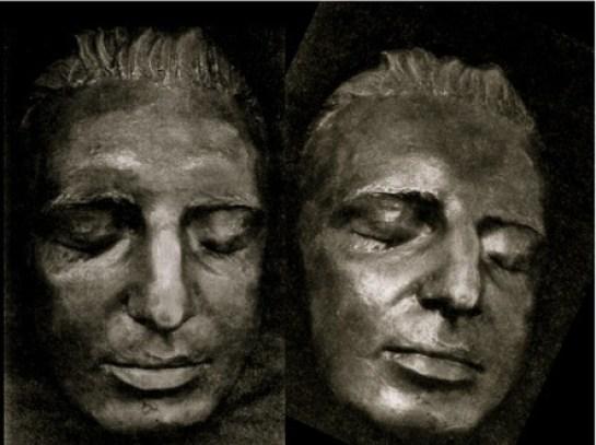 Посмертная маска Моцарта. Источник:reincarnationics.com