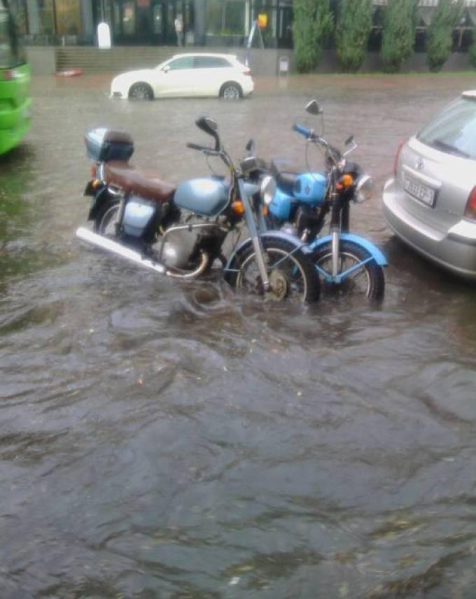 Последствия дождя в Гомеле. Источник фото: соцсети