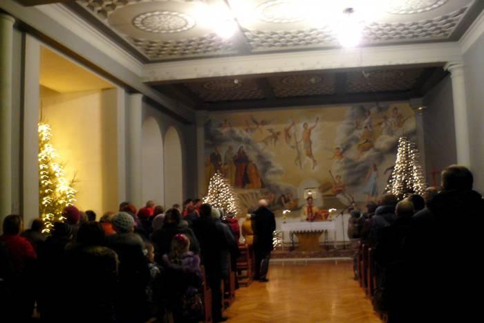 Рождественская имша в костеле Святого Антония Падуанского. Фото Владимира Иванова