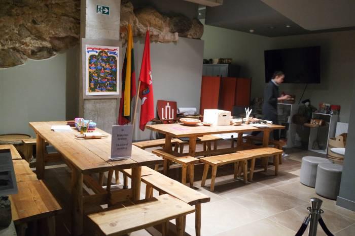 Обучающая зона в музее Дворца великих князей литовских в Вильнюсе. Фото Анастасии Вереск