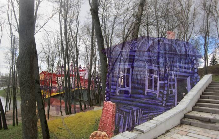 выставка, фотопроекции, Шагал, Борисенков
