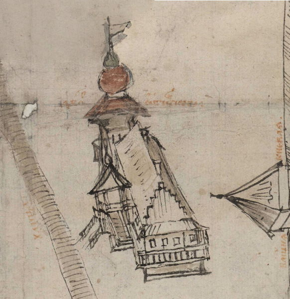 Дворец Огинского на Чертеже Витебска 1664 года. Фото evitebsk.com