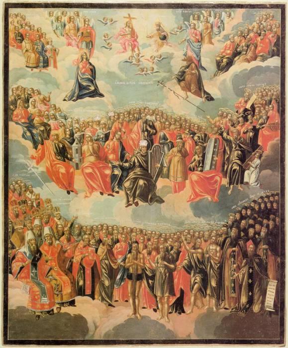 Икона всех святых. Public domain, via Wikimedia Commons