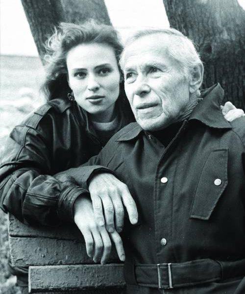 Фёдор Шмаков с дочерью Надеждой. Фото Антона Степанищева