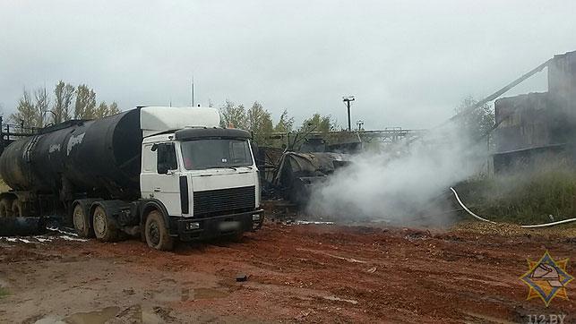 Вчера в Шумилинском районе на территории Обольского керамического завода произошли выброс и возгорание мазута