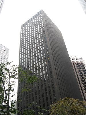 CBS Headquarters in New York, also know as the Black Rock, completed in 1965
