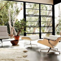 Herman Miller Chair Blue And Ottoman Design Icons Ray Charles Eames  Vkvvisuals Blog