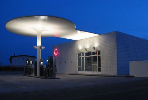 Petrol Station completed in 1936