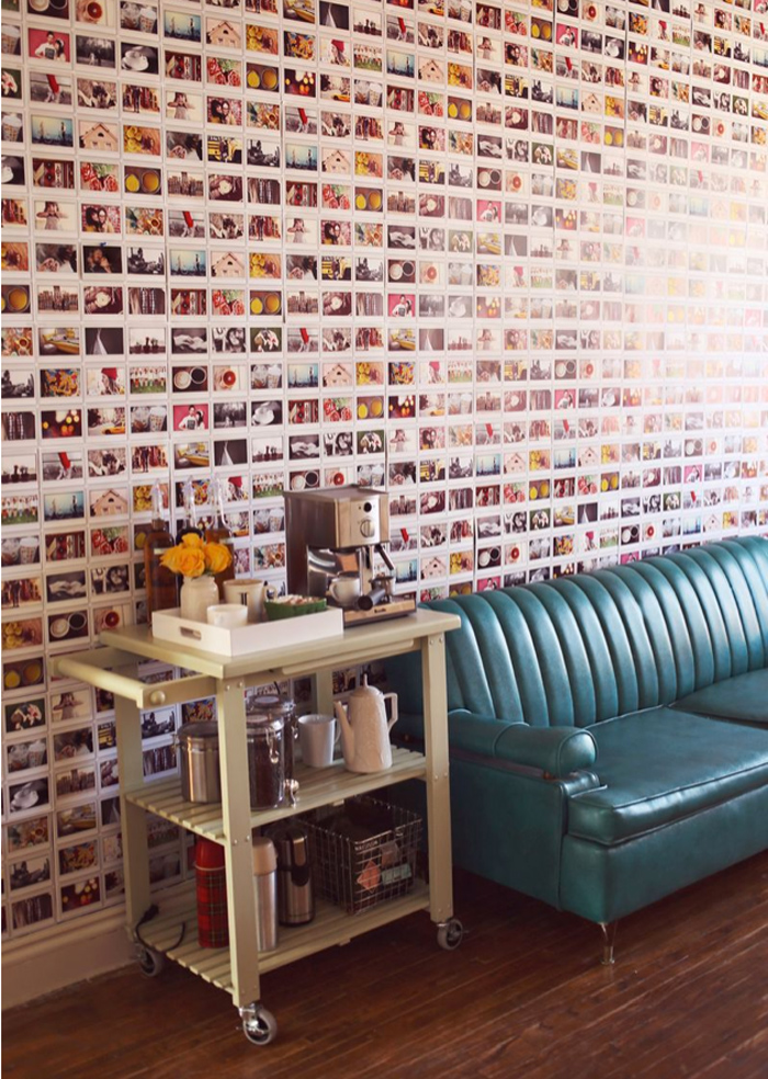 DIY: photo-covered walls