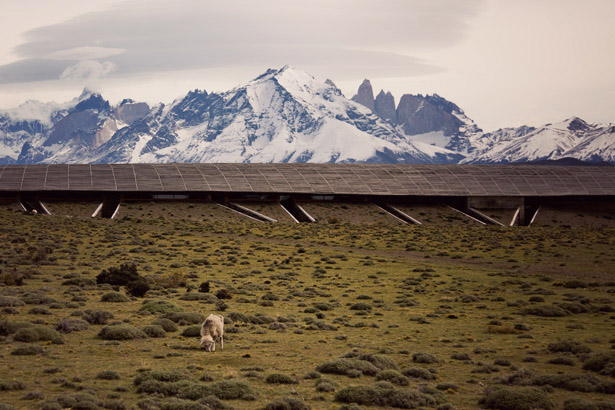 Tierra Patagonia Hotel & Spa is a building immersed in the landscape and emerges from the hillside where the winning architecture complements the flow of the geology in this privileged location and showcases the magnificent views of the Torres del Paine National Park in Patagonia, Chili