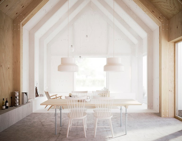 Diningroom in a Swedish house designed by Forstberg Arkitektur via Coco Lapine