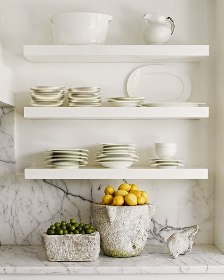 LET THERE BE WHITE - Less is more, wonderful simple white porcelains by Jeffrey Alan Marks via Design Chic