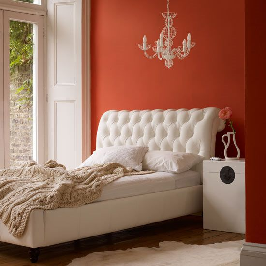 Bedroom orange - via Sandy Deppe