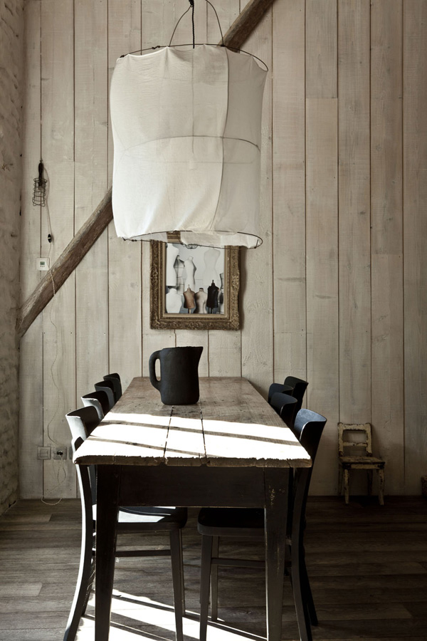 The Koushi Lamp as seen in Karel Balas' summerhouse - via Stylejuicer