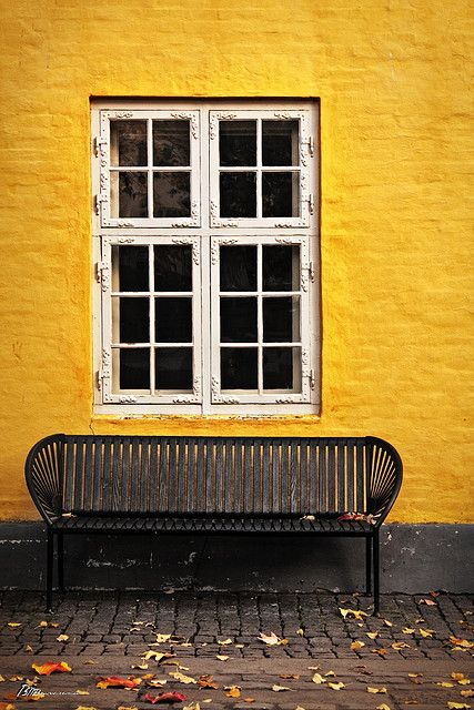 Mustard on the wall, why not - via Flickr