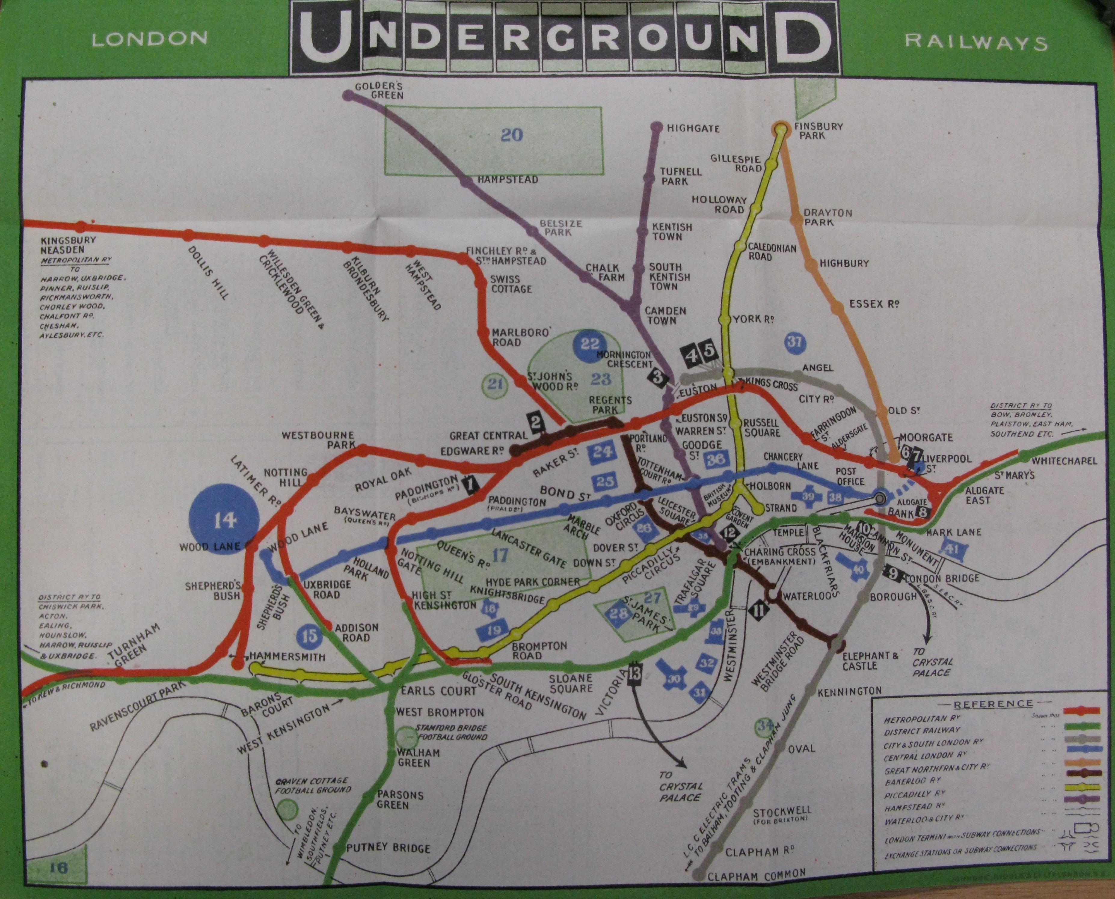 From London Underground Railways To The Tube