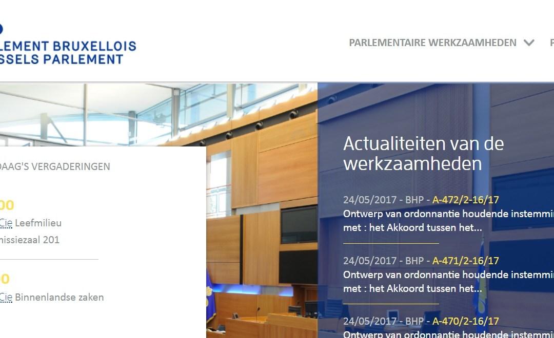 Nieuwe website Brussels Parlement mooi tweetalig: Frans en koeterwaals