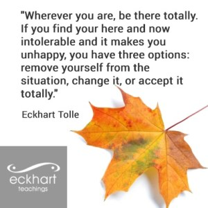 Eckhart Tolle - three options