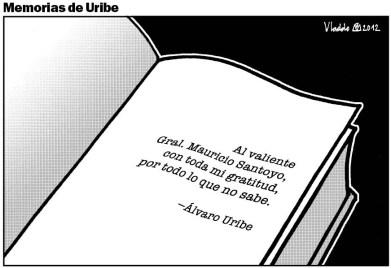 En sus memorias, Uribe le dio gracias al General (r) Mauricio Santoyo. Luego lo borró de la obra.