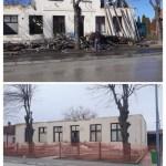 Реновирање изгореле полицијске станице у Владимирцима (ФОТО)