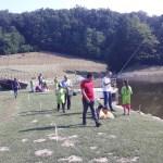 Такмичење пецања рибе на пловак у Манастиру Каона