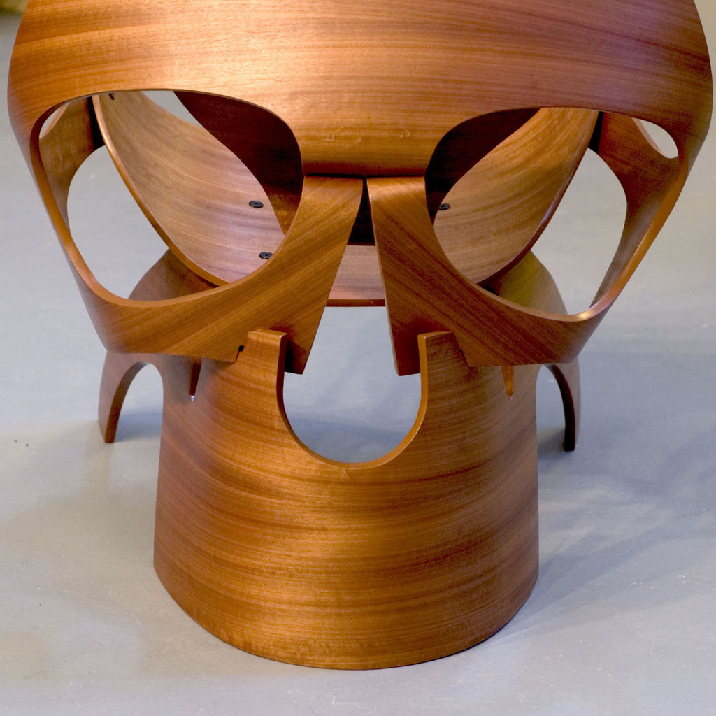 wooden skull chair yilan design competition