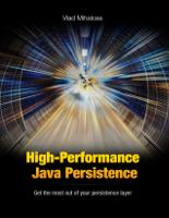 High-Performance Java Persistence book