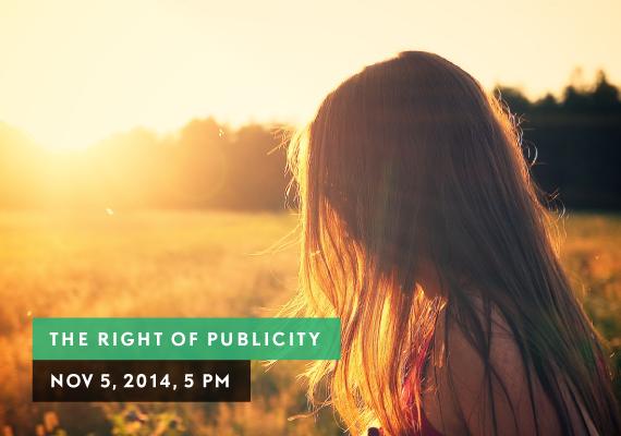 RIGHT OF PUBLICITY, NOV 5, 2014