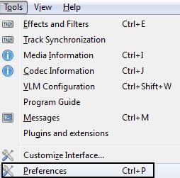 VLC Tools Preferences