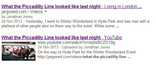 What The Piccadilly Line looked like last night The Simplicity of Video SEO