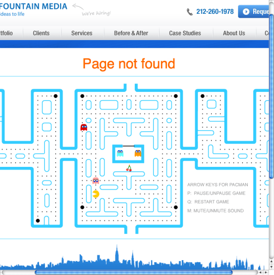 bluefountainmedia Optimising Your 404 Page & Creating Opportunities