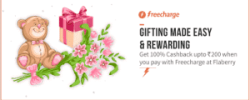 Get Flaberry 100% Cashback Offer Pay by Freecharge (Loot)