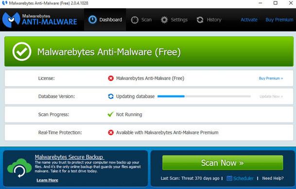 Malwarebytes Anti-Malware Free Antivirus