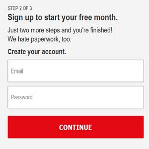 netflix sign up form